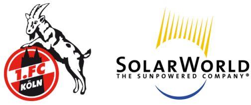 Solar World uit Bonn wordt Premium Sponsor van de 1. FC Köln.