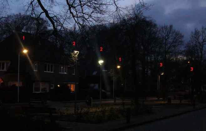 overzicht van de LED proeftuin in en rond het Prins Hendrikplein