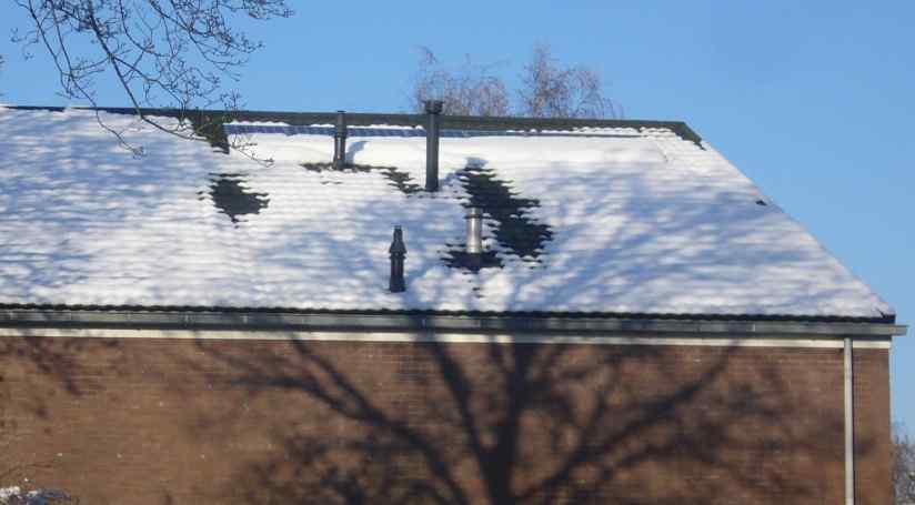 Sneeuw op de zonnepanelen